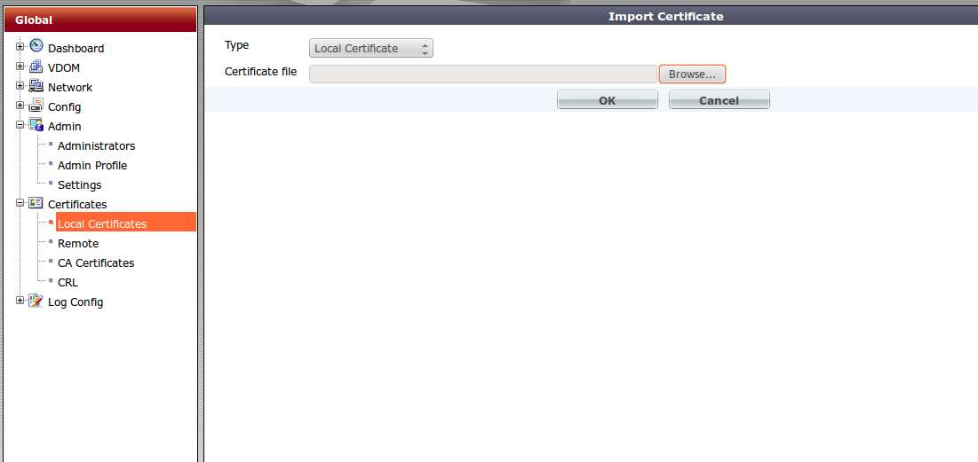 Fortigate Generate A Certificate Request And Import A Signed